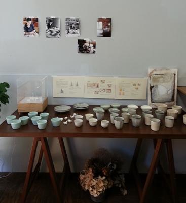 中里花子陶展始まりました。 <br>The exhibition of NAKAZATO Hanako has started.