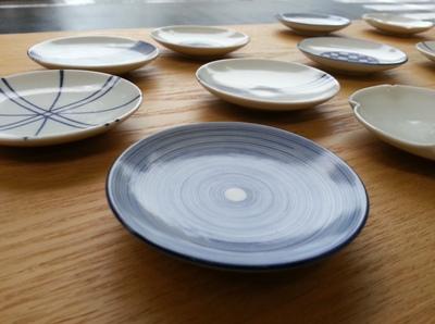 雨の日の豆皿たち <br>Small plates in a rainy day